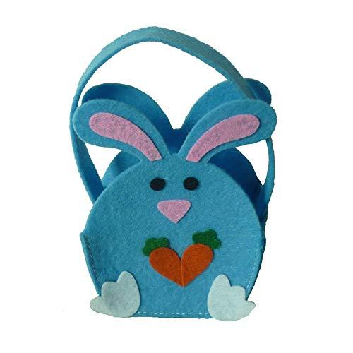 Doe-het-zelf paashaas-zakjes, kanijnen-cakegeschenk en eieren, jagen zakje, kleurrijke geschenkzakjes, voor het verpakken van geschenken voor kinderen en volwassenen Haas