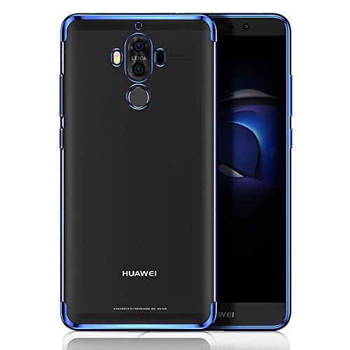BLUGUL Cover Huawei Mate 10 Pro, Electroplating Coloring, Ultra Sottile, Morbida TPU Silicone Case, Trasparente Chiaro Custodie per Mate 10 Pro Blu