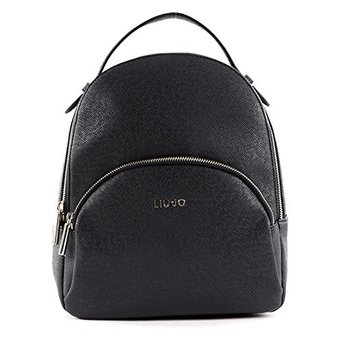 Zaino Liu-Jo backpack in ecopelle nero donna B22LJ13 AF1159 Media