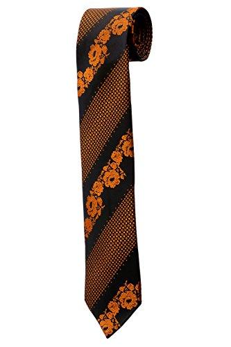 Cravate noire et fleurs oranges DESIGN costume homme mariage cérémonie