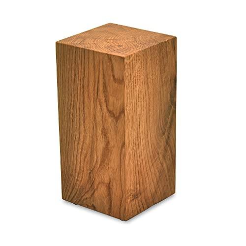 tavolino da salotto 30x30 MS FACTORY Cubo in Legno di Quercia Massiccio - Cubetti di Legno Naturale Realizzato a Mano - Sgabello Legno