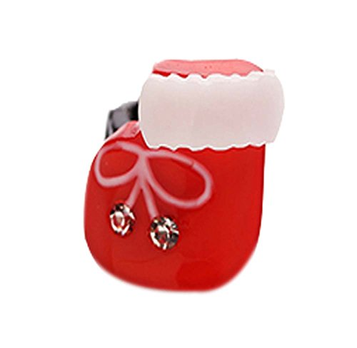 5 pièces Noël Dessin animé Pinces à cheveux Mignon Pinces à cheveux, 1.5*1.4 cm
