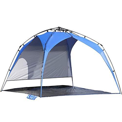 DGZJ Rahmen Zelte 6 Personen Strand-Zelt, Automatische Pole Freizeit Outdoor-Zelt Sonnenschutz Regenschutz Ideal für Camping Wandern Außen (Color : Blue, Size : 5-8people)