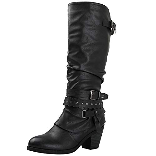 GLOBALWIN Women's 18YY28 Black Fashion Boots 8.5M