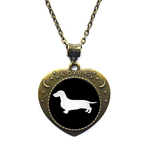 Collar Dachshund, collar de perro en miniatura, joyería de animales, collar de perro en miniatura, collar de encanto delicado-JV347