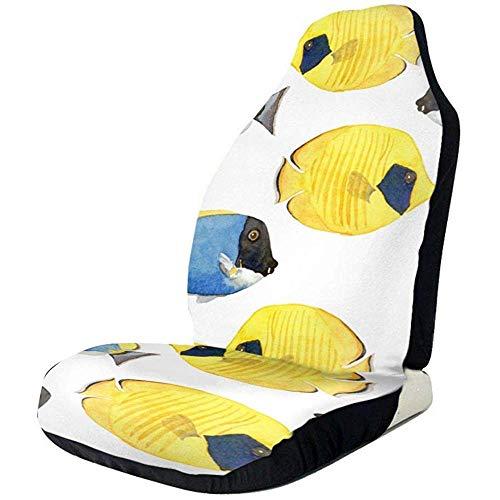 Peces de Coral Reef Peace Sign Protector de la cubierta del asiento de automóvil Easy Wrap, poliéster lavable a máquina, ajuste universal La mayoría de los automóviles, camiones, SUV o furgonetas (1 pieza)