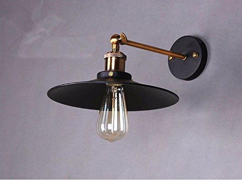 JJZHG wandlamp wandlamp waterdichte wandverlichting wandlamp restaurant cafe single head kleine zwarte jurk lamp wandlamp diameter 36 cm bevat: wandlamp, stoere wandlampen