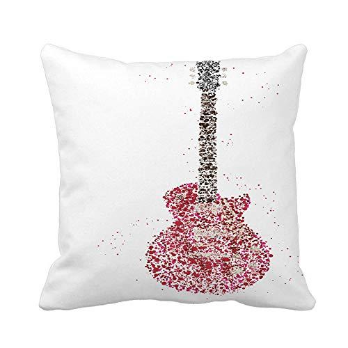 N\A Throw Pillow Cover Concierto Rock Music Guitarra...
