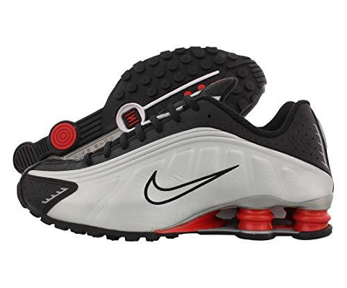 Nike, Shox R4, Scarpe sportive da uomo alla moda, Argento (Argento/nero/rosso.), 37 EU