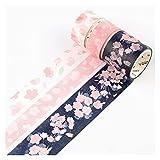 AN915 3pcs / caja sakura cerezo flor washi cinta auto adhesiva cintas de enmascaramiento BRICOLAJE Cuaderno de scrapbooking Pegatina Redonda Papelería de oficina Cinta de artesanía ( Color : B )