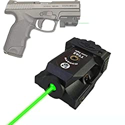 commercial Tactical Green Laser TTAS, Compact Laser Sight for Standard Thin Picatinny Rail Pistols … pt111 g2 laser