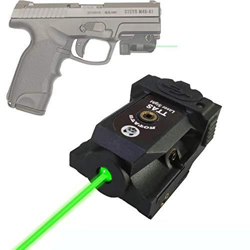 TTAS Tactical Green Laser, Compact Laser Sight Fits Gun of Standard Picatinny Rail Low Profile Pistol Green Dot Sight Rechargeable Handgun Laser Tactical Sights Airsoft Laser Pointer Pistol