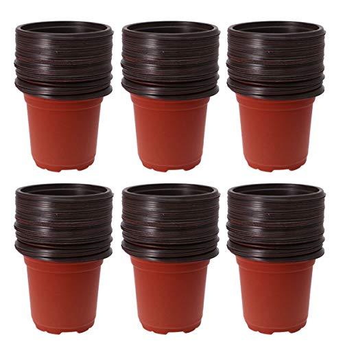 DOITOOL 110 Stks Plastic Kwekerij Potten Voor Zaaien Bloempotten Bloem Plant Container Zaad Startpot (2. 7X2. 7X3. 3 Inch)