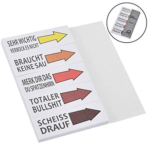 Willingood Haftnotizen Lustig Studenten Block Sticky Notes 5 Blöcke 50 Blatt Streifen Page Marker Textstreifen Klebezettel