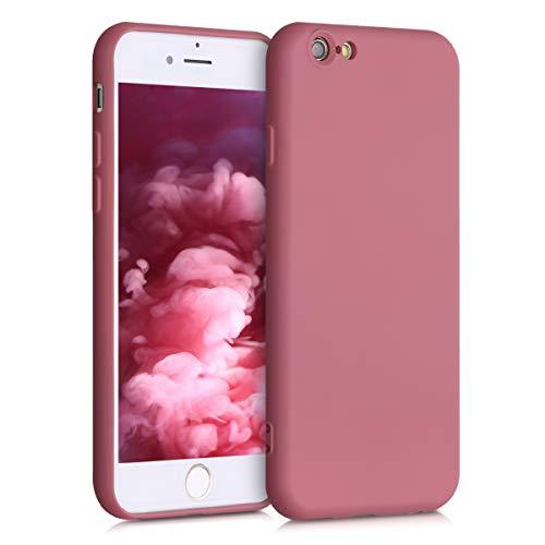 kwmobile Cover Compatibile con Apple iPhone 6 / 6S - Custodia in Silicone Effetto Gommato - Back Case Protezione Cellulare - Cipria Scuro