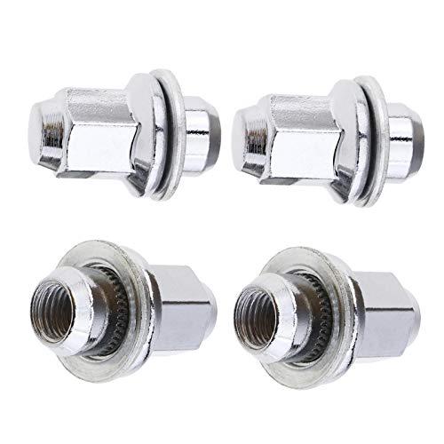 OTOTEC 4x Metall Ersatz Radmutter Alufelgen M12 x 1,5