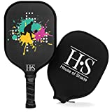 Pickleball Paddle - Carbon Fiber Face, Honeycomb Core, Cushioned Grip, Fused Edge...