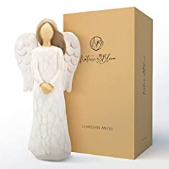 Precious Moments – Give the gift of a Guardian Angel to your loved one. Includes card inscribed with thoughtful words 'Wherever you go, whatever you do, may your Guardian Angel watch over you.' Express Sympathy – Your hand sculpted figurine is a touc...