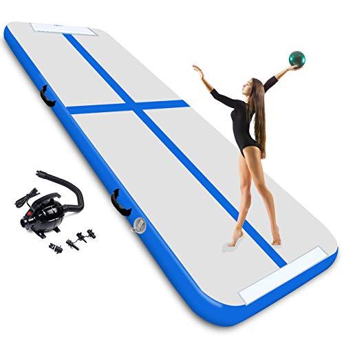 3M Inflatable Gymnastics Mat With Electric Air Pump Air Mat Tumble Flooring...