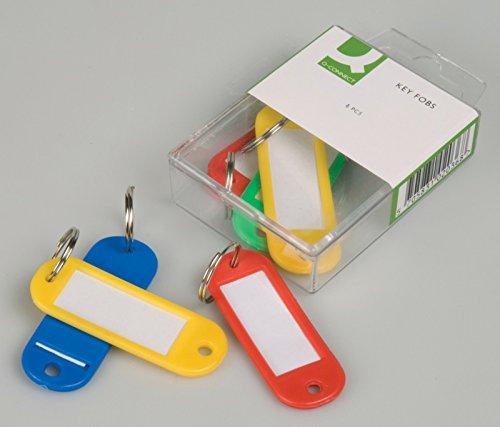 Q-Connect KF02036 - Llavero Portaetiquetas Caja De 6 Unidades Colores Surtidos