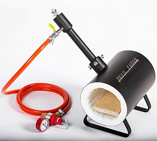 Forja de gas propano - DFS | con 1 quemador DFP (80,000 BTU) | para herreros y fabricantes de cuchillos para el trabajo de forja