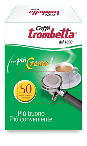 Caffè Trombetta, Caffè in Cialda ESE, Più Crema - 50 Cialde