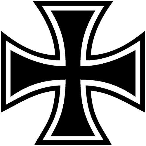 Samunshi® Aufkleber Eisernes Kreuz Motiv in 11 Größen und 25 Farben (8x8cm schwarz)