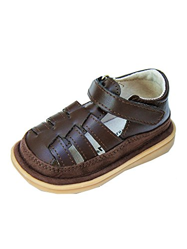 Mooshu Trainers Little Boys Chocolate Fisher Squeaky Sandals 5 Toddler