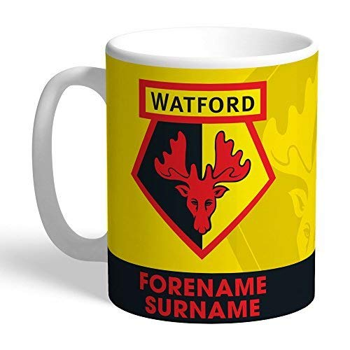 Official PERSONALISED Watford FC Bold Crest Mug