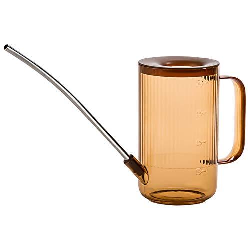 Arrosoir,Bouteille d'arrosage à Bec Long en Acrylique 1L pour Jardin, Outils de pulvérisation de Pot d'arrosage d'arrosage Transparent pour Bureau extérieur Brown