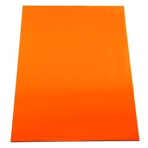 First4magnets MFA4(OR)-1 Magnetfolie Orange Flexible A4 (297 x 210 x 0,85 mm) (1 Packung), silver, 25 x 10 x 3 cm