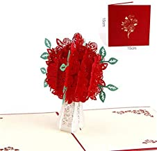 3D Pop Up Card - 3D Pop Up Cards Valentine Lover Happy Birthday Anniversary Greeting Cards 3d Cutting flower couples design cards set