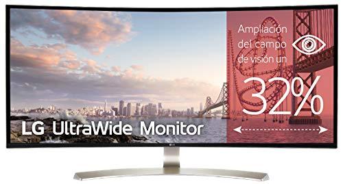 "LG 34UC99-W - Monitor Profesional Curvo UltraWide WQHD de 86.7 cm (34"") con Panel IPS (3440 x 1440 píxeles, 21:9, 300 cd/m², sRGB >99%, 1000:1, 5 ms, 75 Hz, DPx1, HDMIx2, USB-C x1, USBx2) Color Blanco"