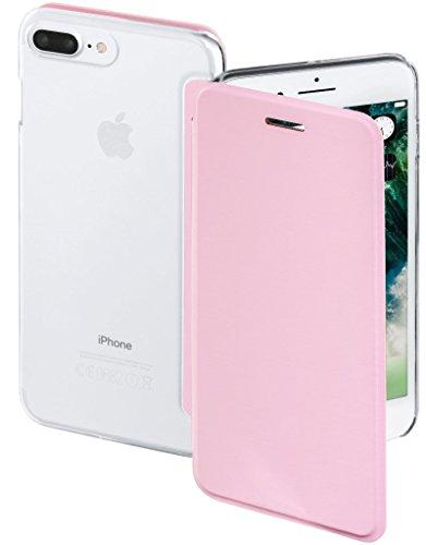 Hama Clear Booklet Rosa Flip-Cover Klapp-Tasche Schutz-Hülle Case Cover für Apple iPhone 7 / 8 Plus