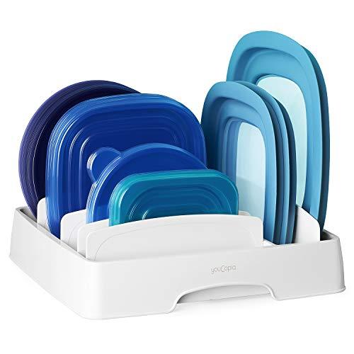 YouCopia StoraLid 50172 Lebensmittelbehälter, Deckel Organizer, mittel, weiß, Kunststoff