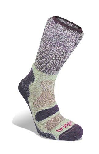 Bridgedale womens Hike Midweight Merino Comfort Socks, Plum, M