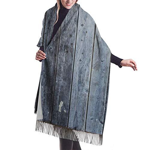 Bufanda Fringe Chal Mujer Contraventanas de madera con pintura cutre oxidada antigua imagen de pueblo tradicional Bufanda de invierno de Cálido Grueso Otoño Invierno para navidad,accion de gracias