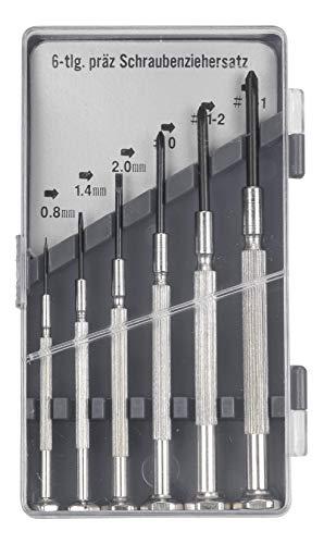 kwb - Juego de destornilladores para mecánica de precisión para punta fina y Phillips PH, 6 piezas