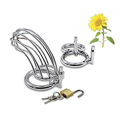 Metal Macho Dispositivo de acero Acero inoxidable Cóok Cāge Sèx Anillo de juguete