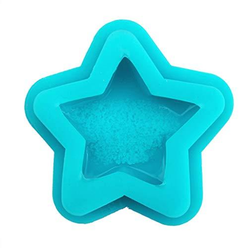 SORECA Molde de resina de cristal con forma de corazón y estrella de druzy natural, 15 unidades