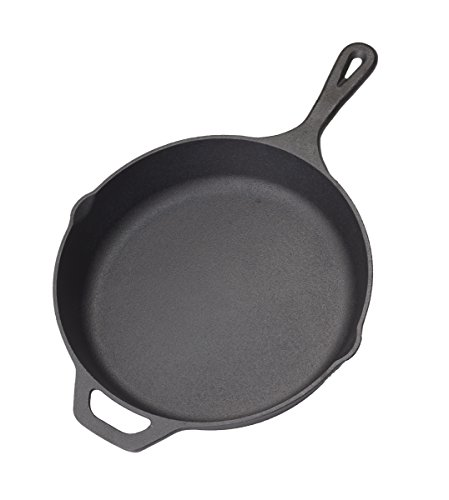 """Pre-Seasoned Cast Iron Skillet (Black, 10.25"""" Inch) Cast Iron Kitchen Cookware Skillet Set - Home & Commercial Frying Pans - Heat Retention - Rust Resistant - Heavy Duty Nonstick Bakeware by Homerware"""