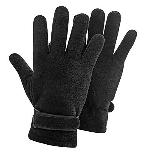 Warme Handschuhe für Herren, aus Polarfleece, mit verstellbarem Riemen, Thermo-Fäustlinge aus Latex