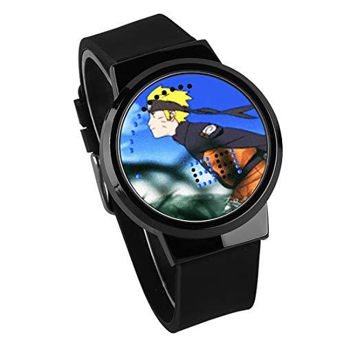 Orologio Uomo,Orologio A LED Touch Screen Ninja Huoying Animazione Circostante Orologio Da Polso Impermeabile Luminoso Elettronico Regalo Di Compleanno Cintura Nera