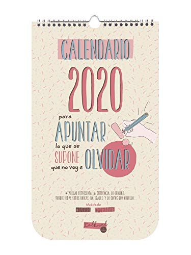 Finocam - Calendario de pared Talkual 2020 español