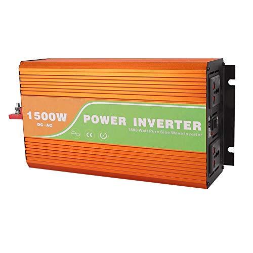 1500W Wechselrichter,reiner Sinus-Hochfrequenz-Solarstrom-Wechselrichter mit LCD-Bildschirm,geräuscharm,keine Verschmutzung, weit verbreitet in Haushaltsgeräten (DC 12V/24V/48V)(1#)