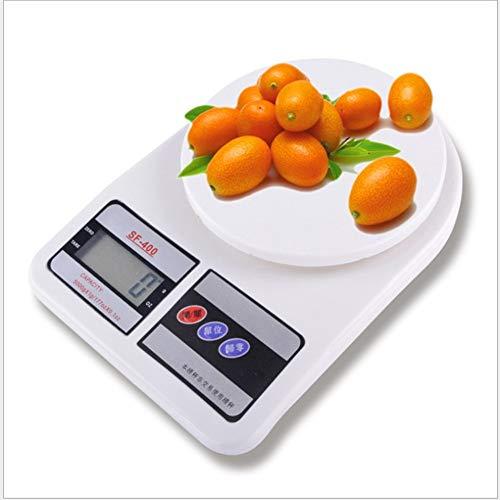 Báscula digital 10KG / 10000g Básculas de cocina Básculas digitales electrónicas LCD Diseño delgado Exactitud precisa Báscula de pesaje de alimentos para el hogar, oficina y sala de correo