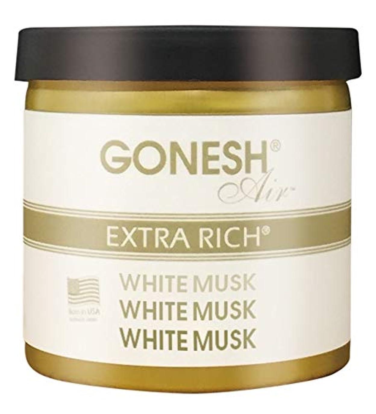 愚かなで出来ている袋GONESH ゲルエアフレシュナー ホワイトムスク