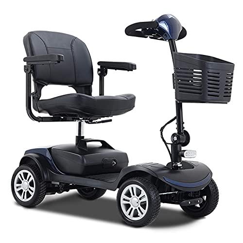 Scooters de Movilidad compactos Metro Mobility de 4 Ruedas para Adultos, Dispositivo de Silla de Ruedas móvil eléctrico para Personas Mayores, batería de Larga duración con Cargador y Cesta Incluido