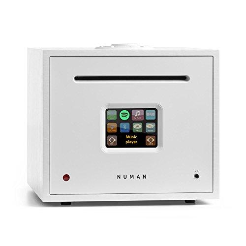 NUMAN Unison Reference - All-in-One-Receiver, Verstärker, Internetradio, CD-Player, WLAN, DAB+, UKW, Bluetooth, USB-Anschluss, 2 x 40 Watt RMS, Fernbedienung, Spotify Connect, weiß
