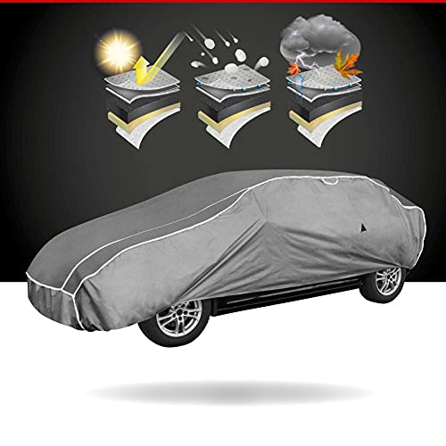 Walser Telone antigrandine Hybrid UV Protect, Impermeabile e Traspirante y restistente ai Raggi, Garage antigrandine Set di Cinghie di Fissaggio Incluso, Dimensione: S